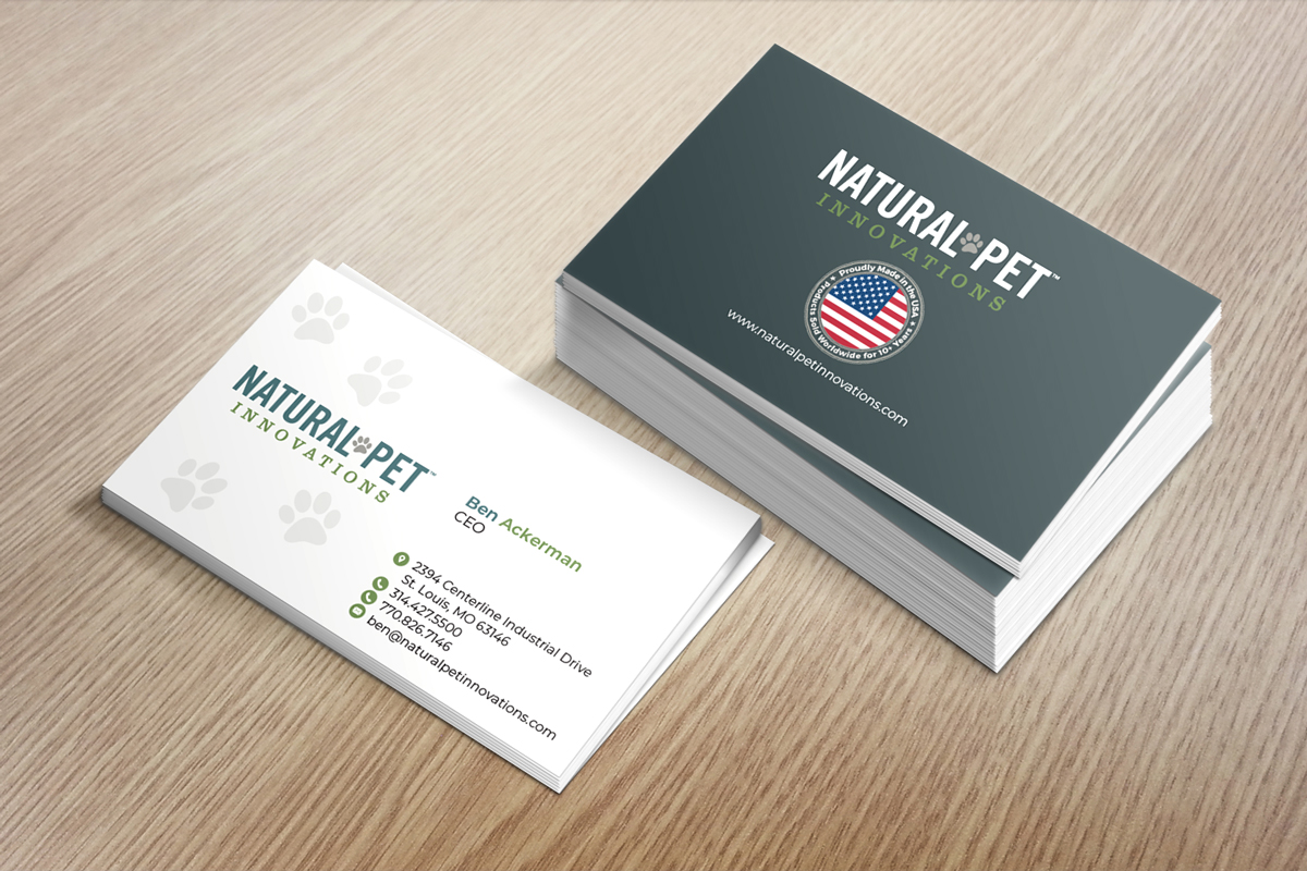 Masculine serious pet business card design for natural pet business card design by designjeep for natural pet innovations design 18516759 colourmoves
