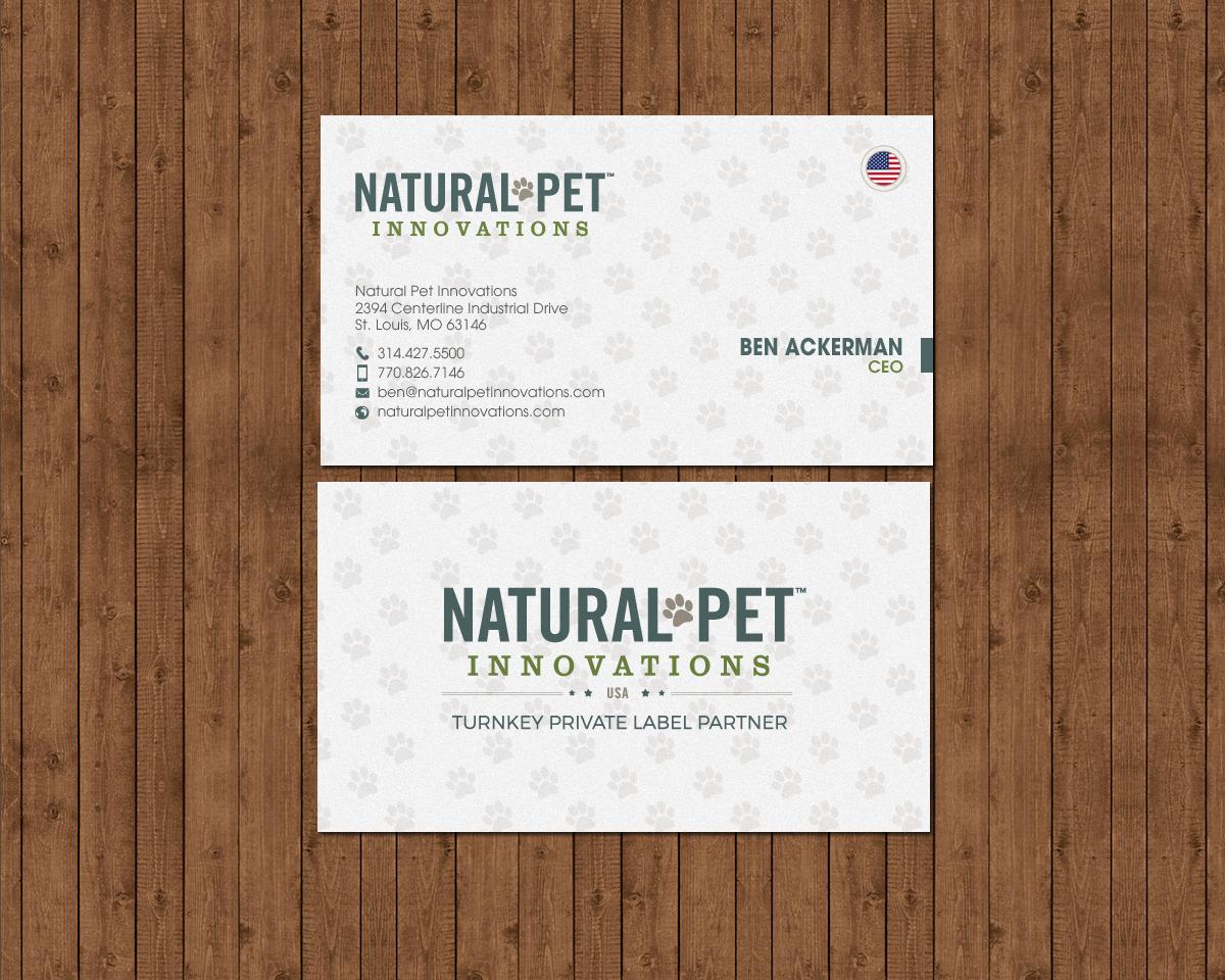 Masculine, Serious, Pet Business Card Design for Natural Pet ...