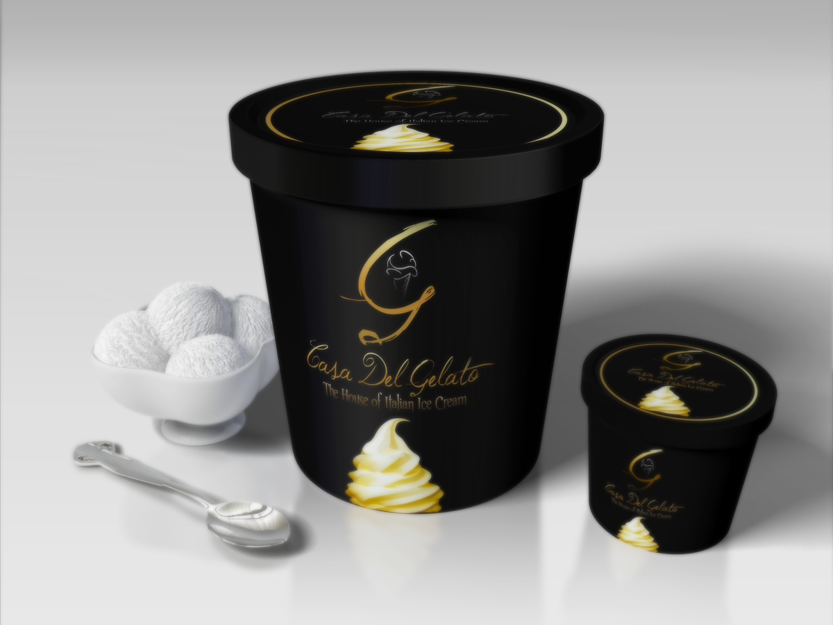 Upmarket Serious Packaging Design For Casa Del Gelato By