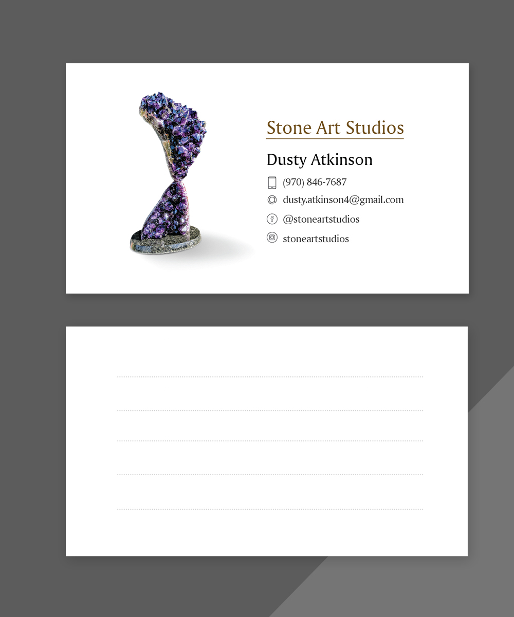 Upmarket, Elegant, Art Gallery Business Card Design for The Geode ...
