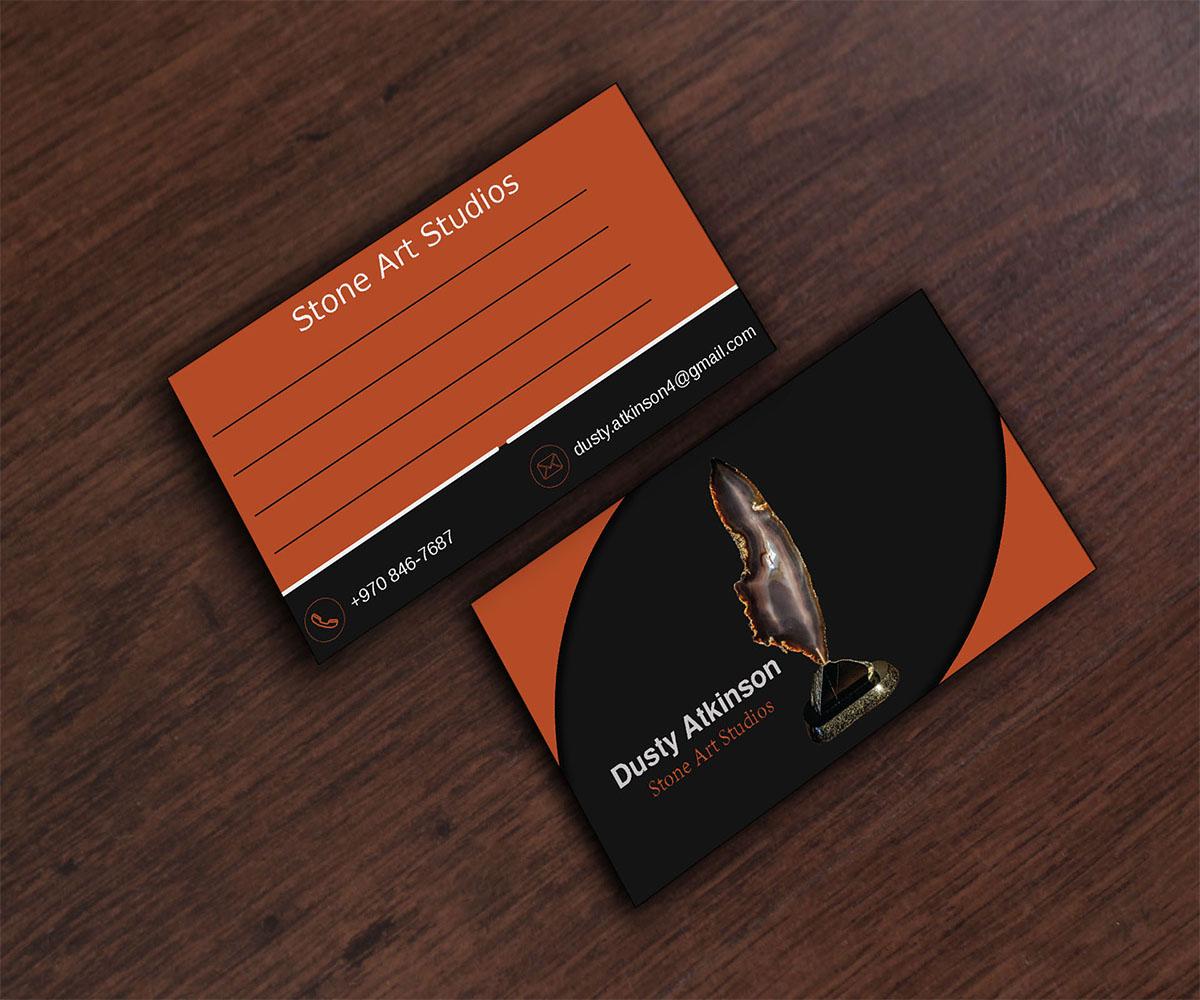 Upmarket elegant art gallery business card design for the geode business card design by med hed for the geode guys design 18605416 reheart Images