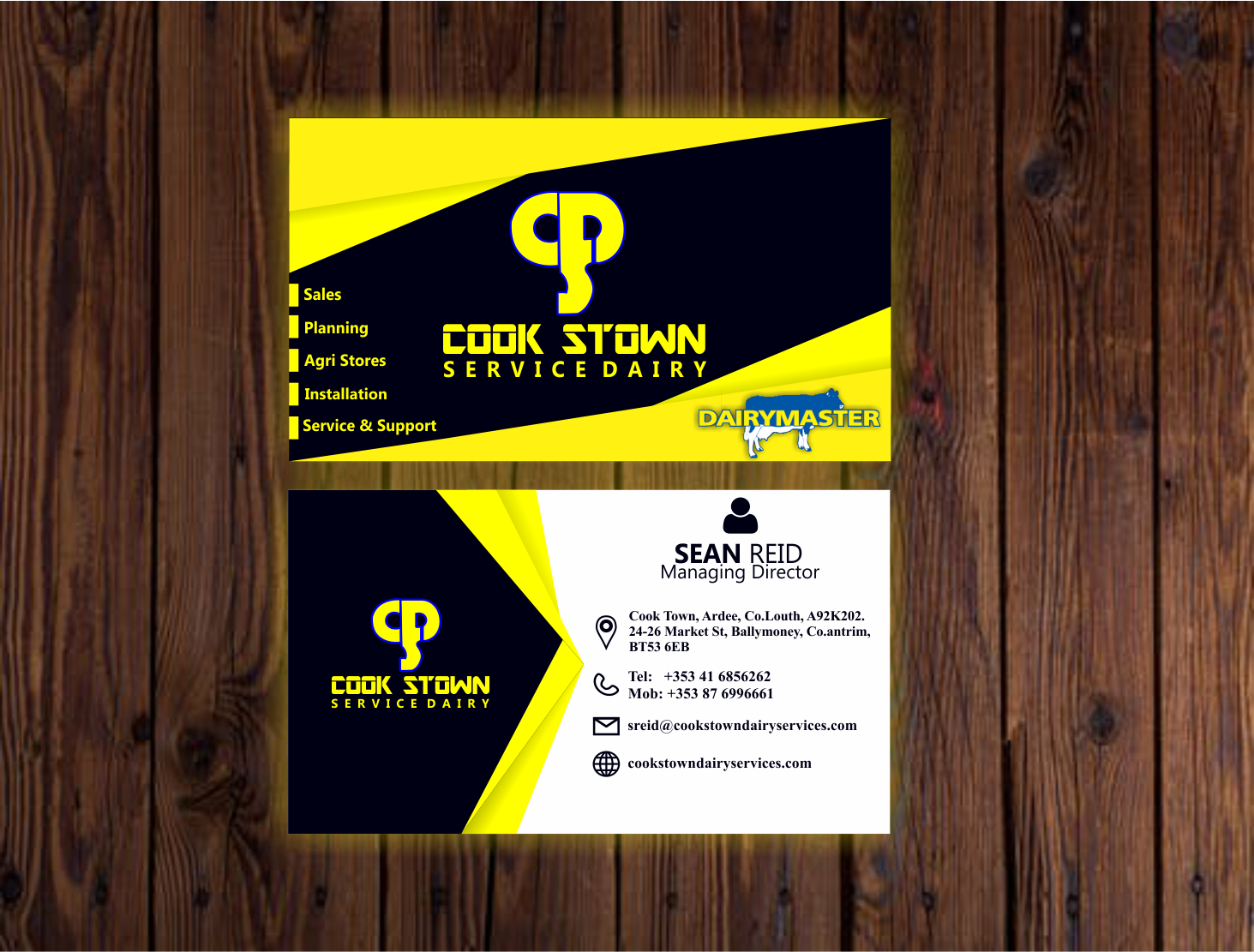 Elegant playful business card design for cookstown dairy services business card design by ace godwin for cookstown dairy services design 18479558 reheart Images