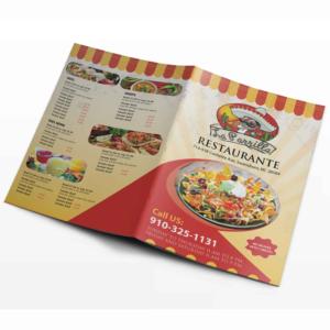 elegant playful menu design for a company by sd webcreation