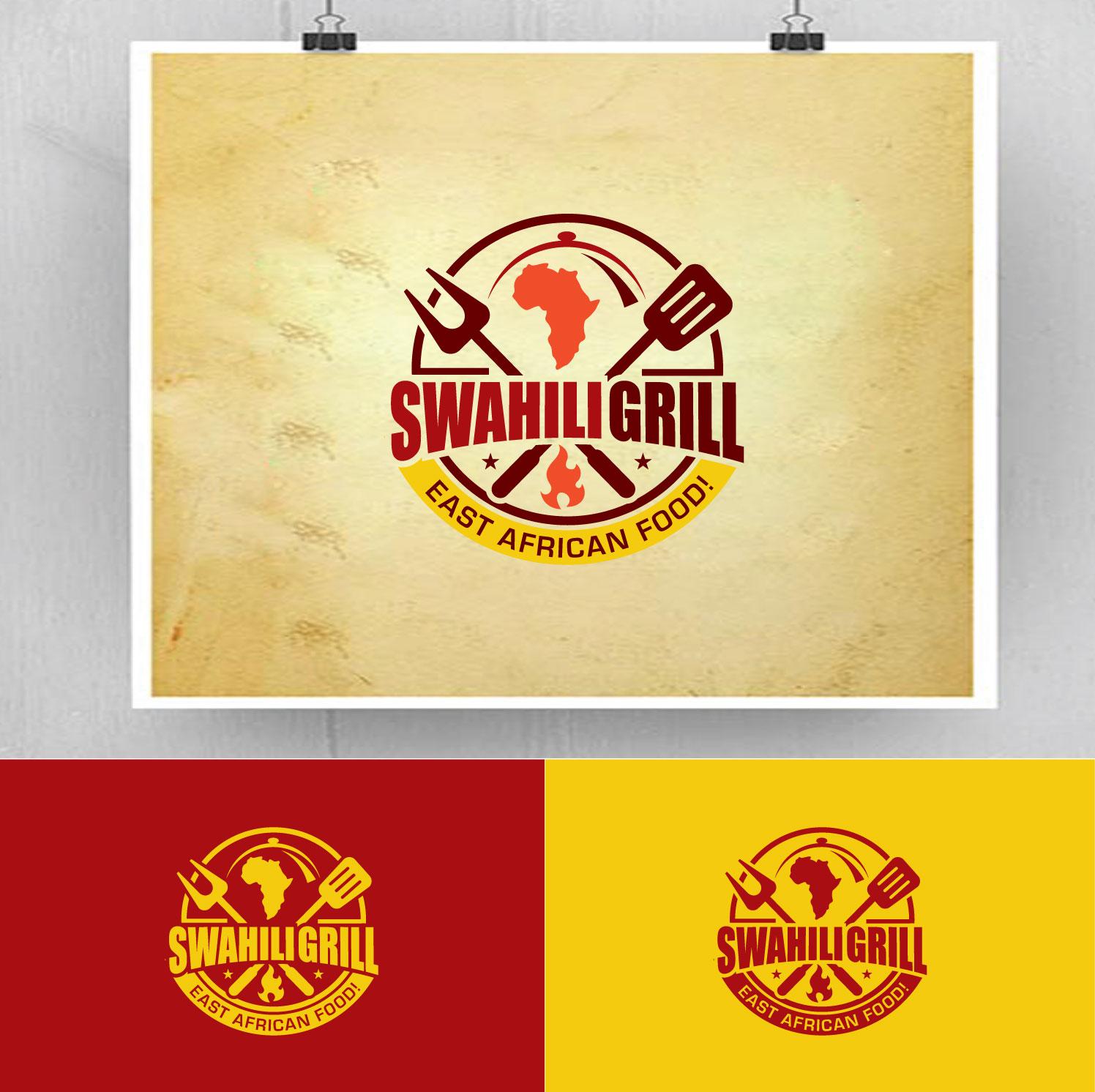 Moderno Vistoso Restaurant Diseno De Logo For Swahili Grill Por Fourtunedesign Diseno 18546816