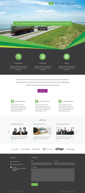 Web Design by Intricate - Template design for micro site for a corporate-...