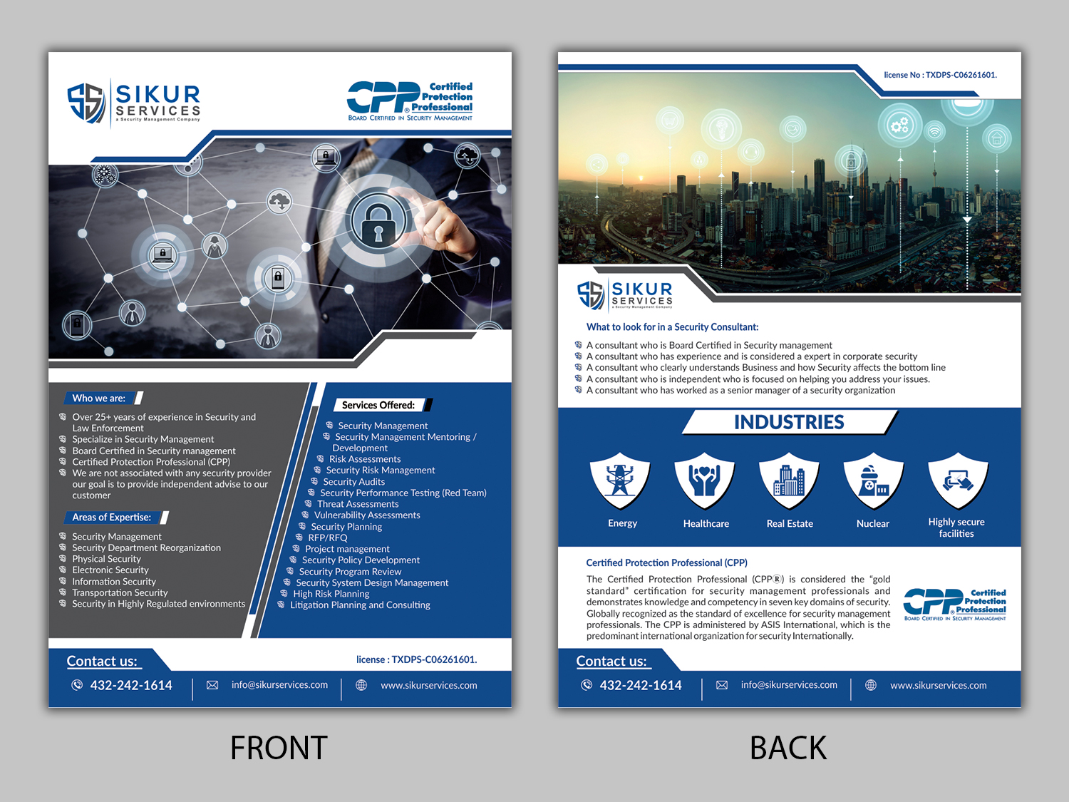 Flyer Design for Sikur Services LLC  by ecorokerz | Design