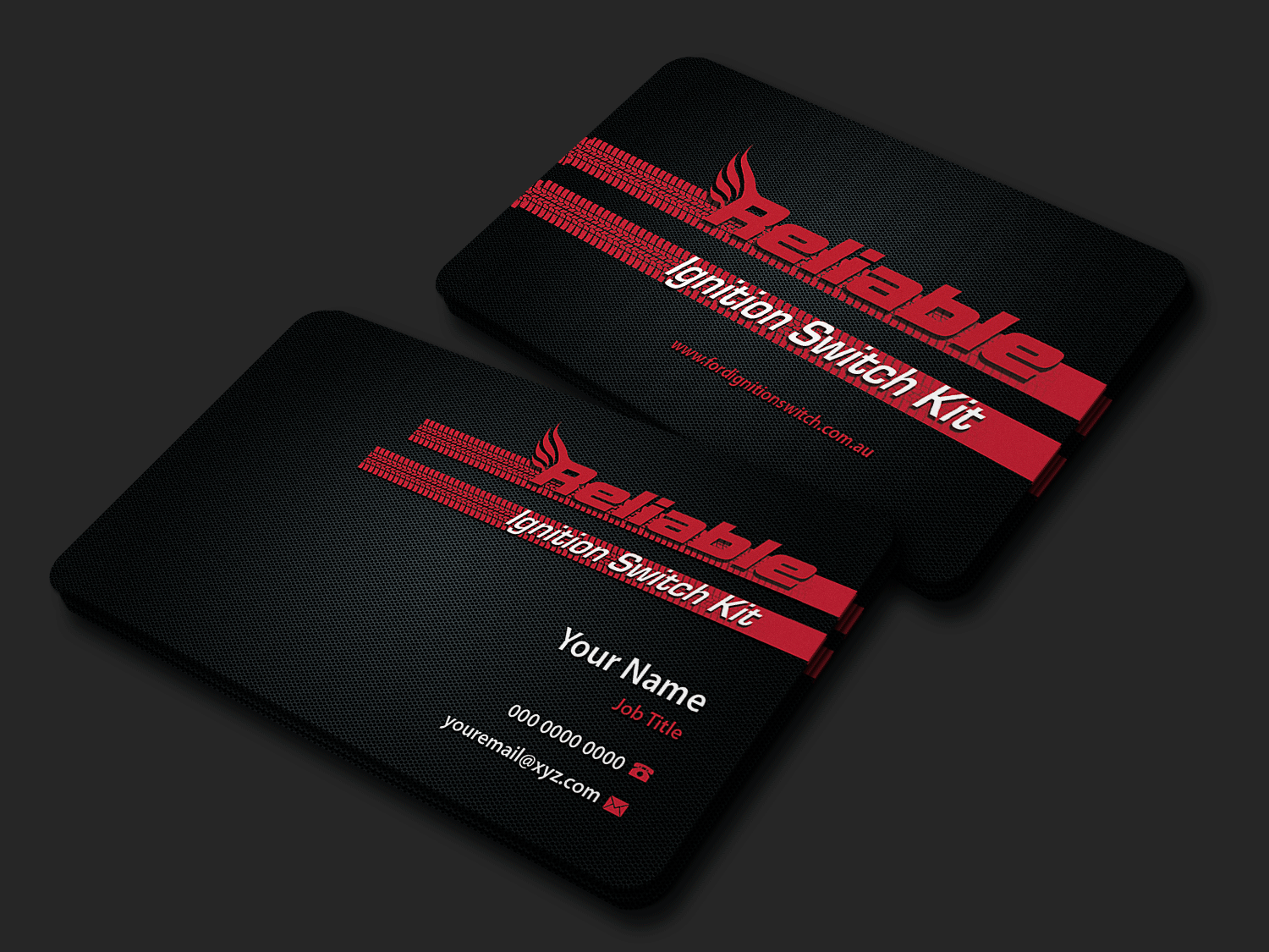 Modern Professional Automotive Part Business Card Design For Reliable Locksmiths By Riz Design 18642534