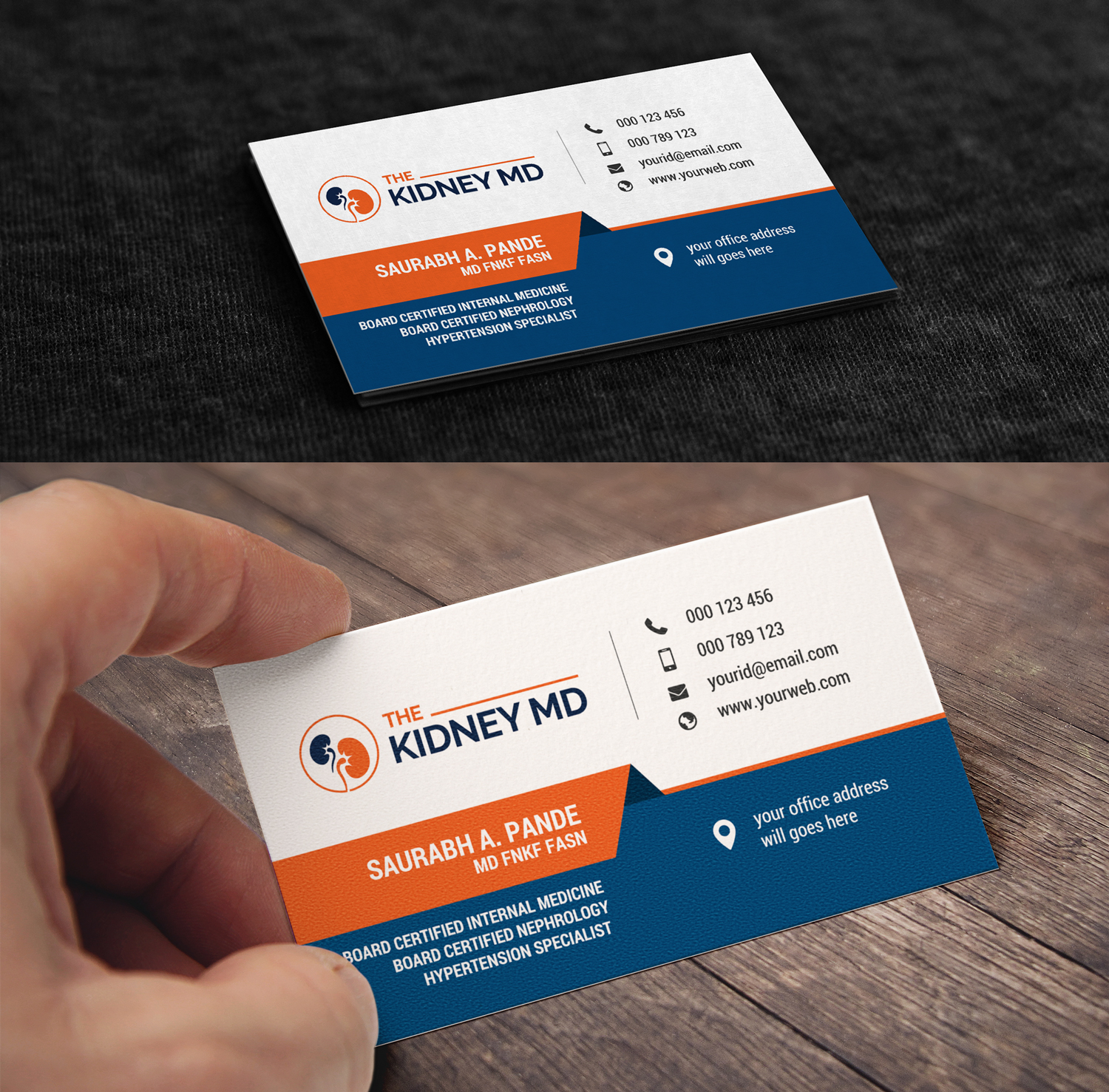 Modern, Elegant, Health Care Business Card Design for a Company by