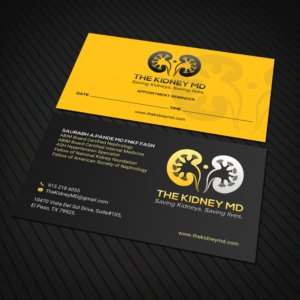Kidney Business Card Designs | 15 Business Cards to Browse