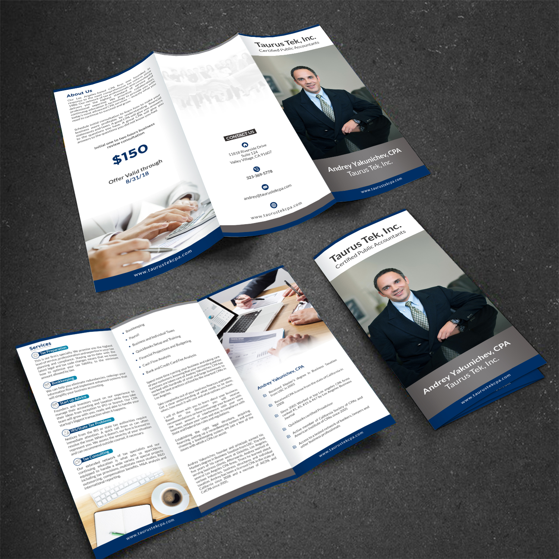 Elegant, Playful Brochure Design for Taurus Tek, Inc  by