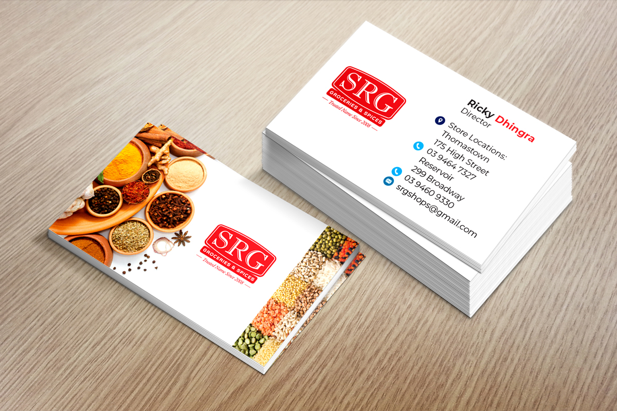 Elegant playful grocery store business card design for a company business card design by designjeep for this project design 18523072 colourmoves