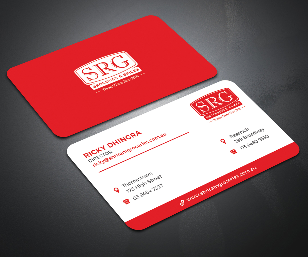 Elegant playful grocery store business card design for a company business card design by dsghosh for this project design 18542331 reheart Images