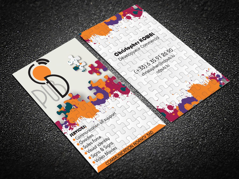 Design De Carte Visite Par Hardcore Pour CD PUBLICITE