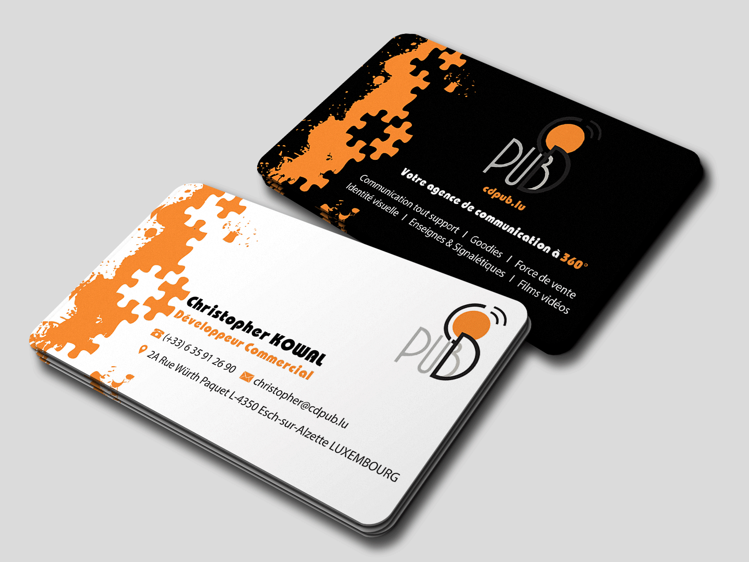 Colorful, Modern, Communication Business Card Design for CD ...