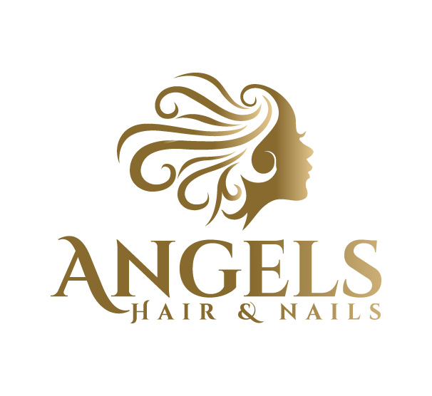 Serious Elegant Beauty Salon Logo Design For Angels Hair Nails Angels Hair Nails By Juie Design Design 18699134