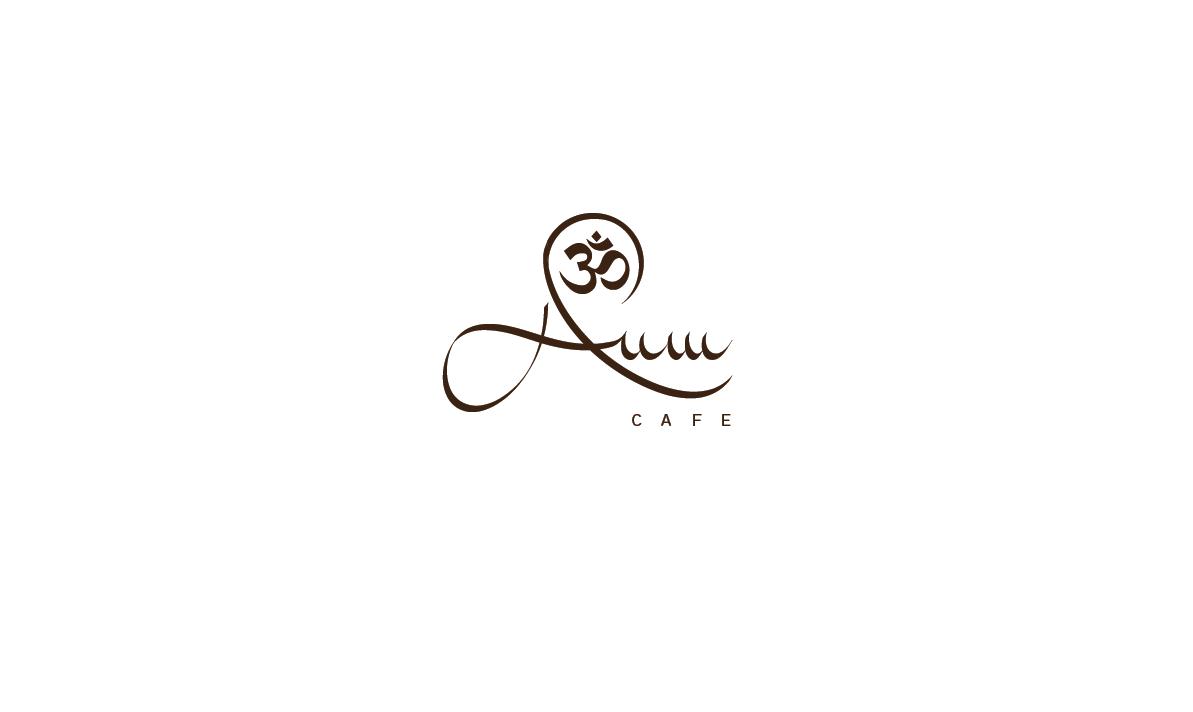 Elegant Playful Logo Design For Aum Cafe Or Cafe Aum Or Om Cafe Or