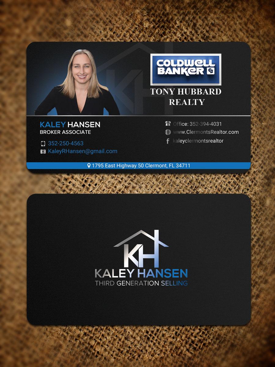 Design De Carte Visite Moderne Professionnelle Real Estate Agent Pour A Company En Aux United States