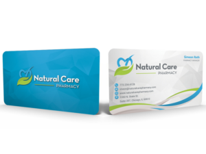 natural care pharmacy business cards business card design by hardcore design - Pharmacy Business Cards