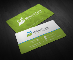 natural care pharmacy business cards business card design by pointless pixels india - Pharmacy Business Cards