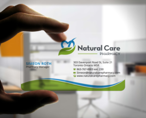 Pharmacy business card design galleries for inspiration natural care pharmacy business cards business card design by stylez designz reheart Images