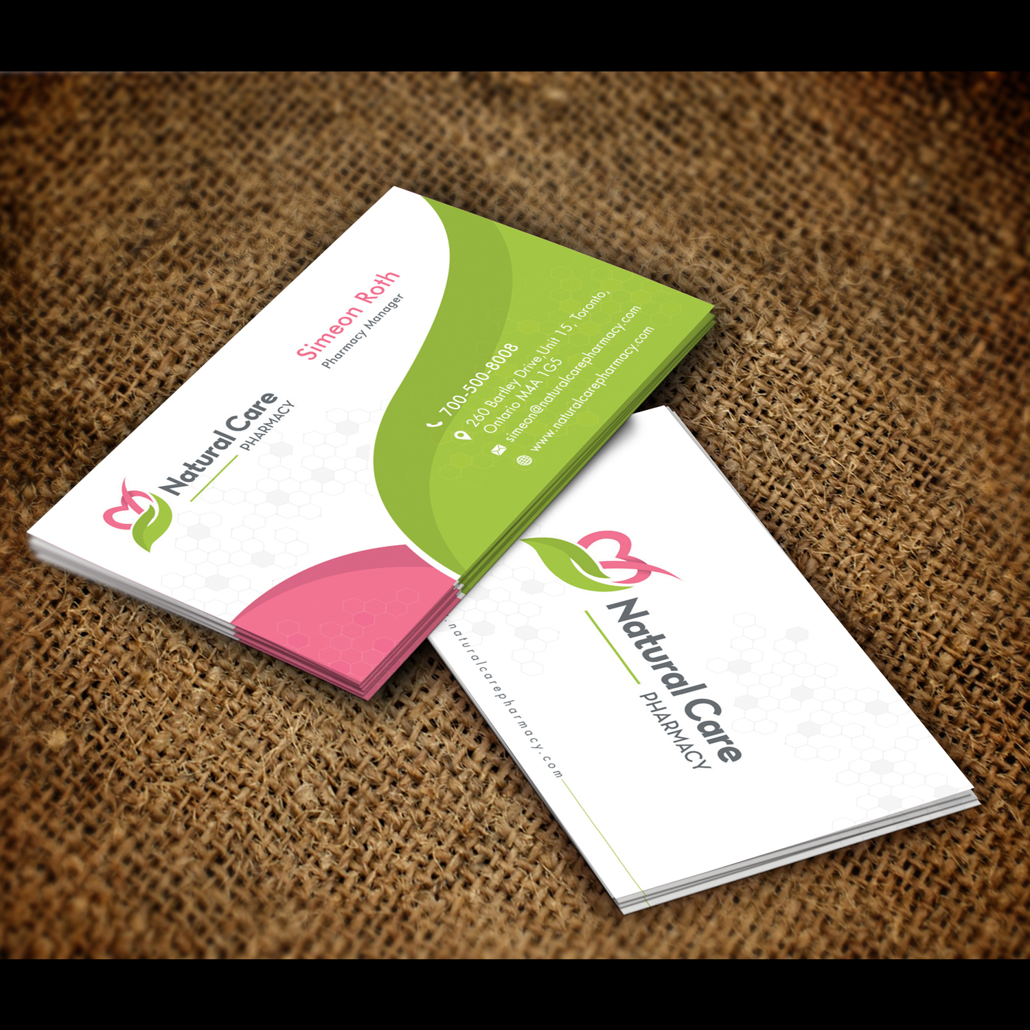 Elegant Playful Pharmacy Business Card Design For A Company By