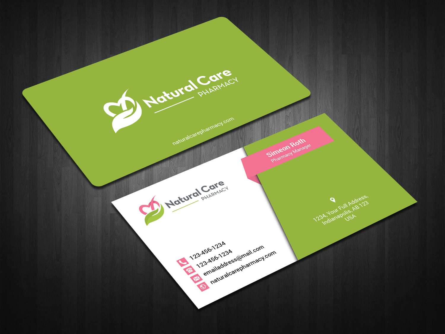 Elegant playful pharmacy business card design for a company by business card design by zahidrabbygc for this project design 18539263 reheart Choice Image