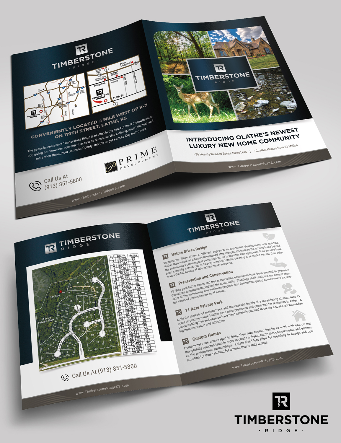 upmarket professional real estate brochure design for a company by