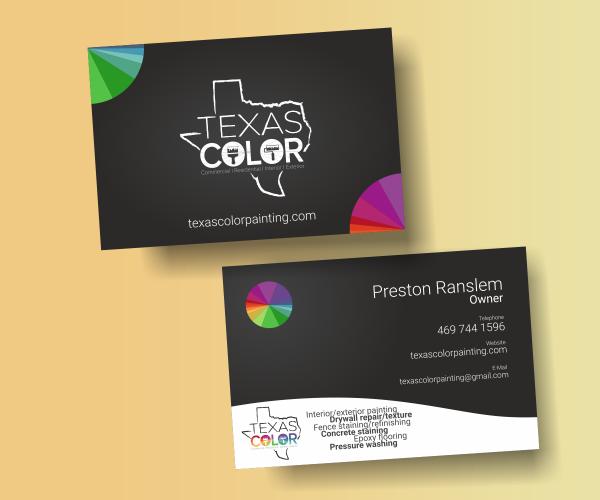 business card design by maglid for texas color painting design 18567756 - Painting Business Cards