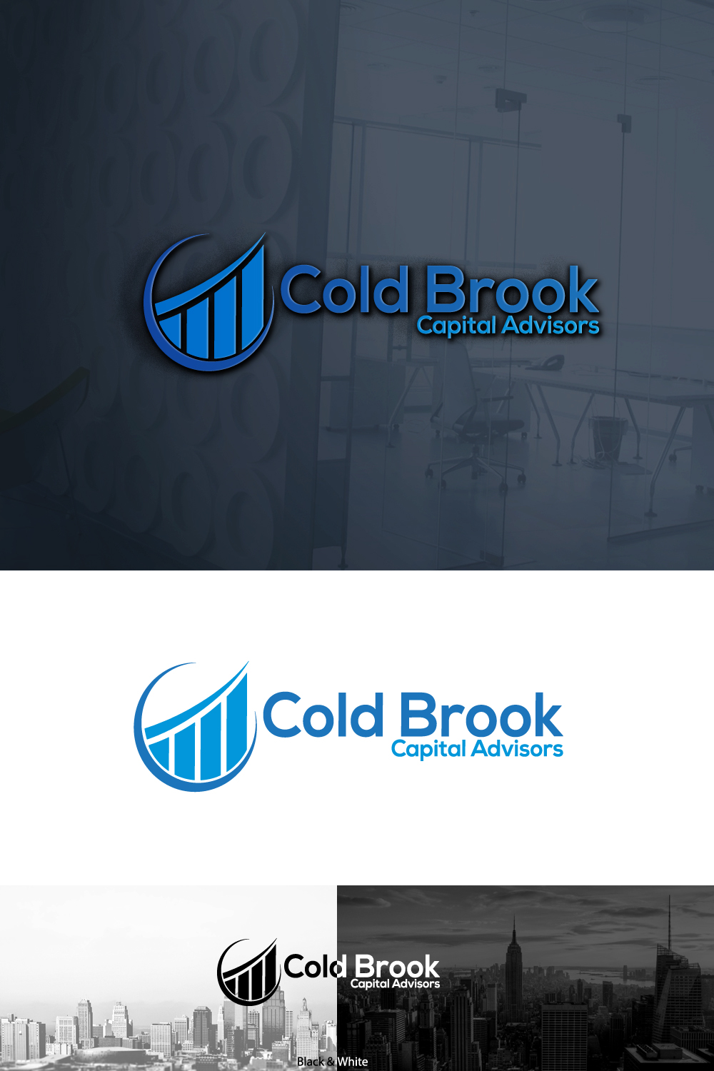 Serious, Professional Logo Design for Cold Brook Capital Advisors by