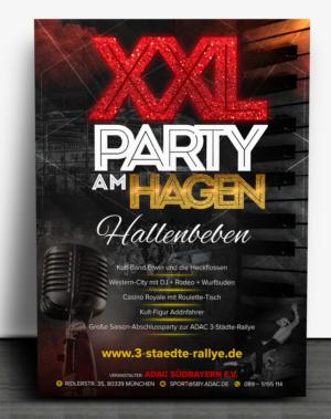 XXL Party am Hagen - große Partynacht in Straubing | 24 Poster