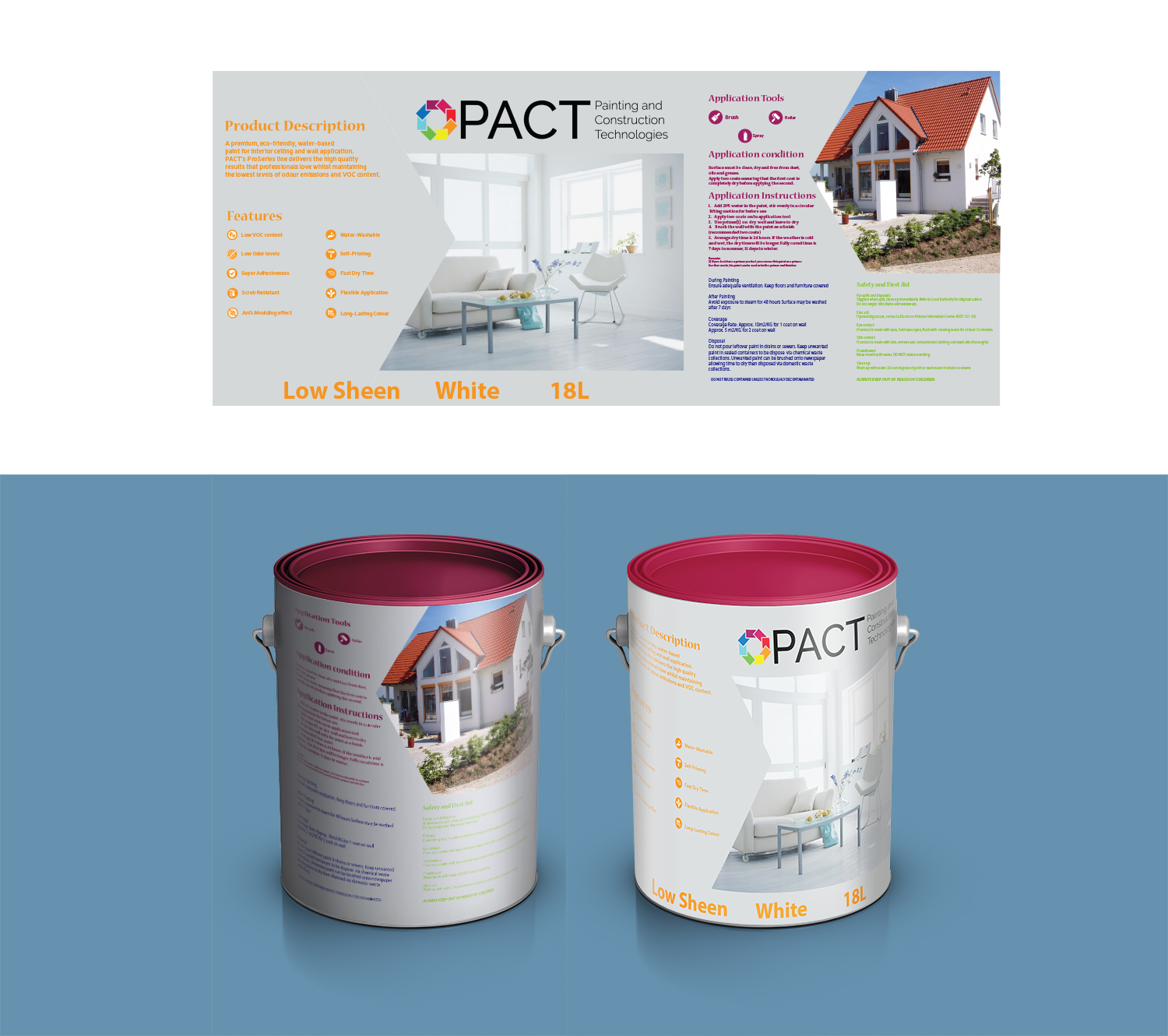Serious Professional Paint Label Design For Pact By Beezu Design 18628822