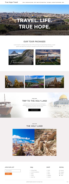 Modern, Upmarket Weebly Design for True Hope Travel by pb
