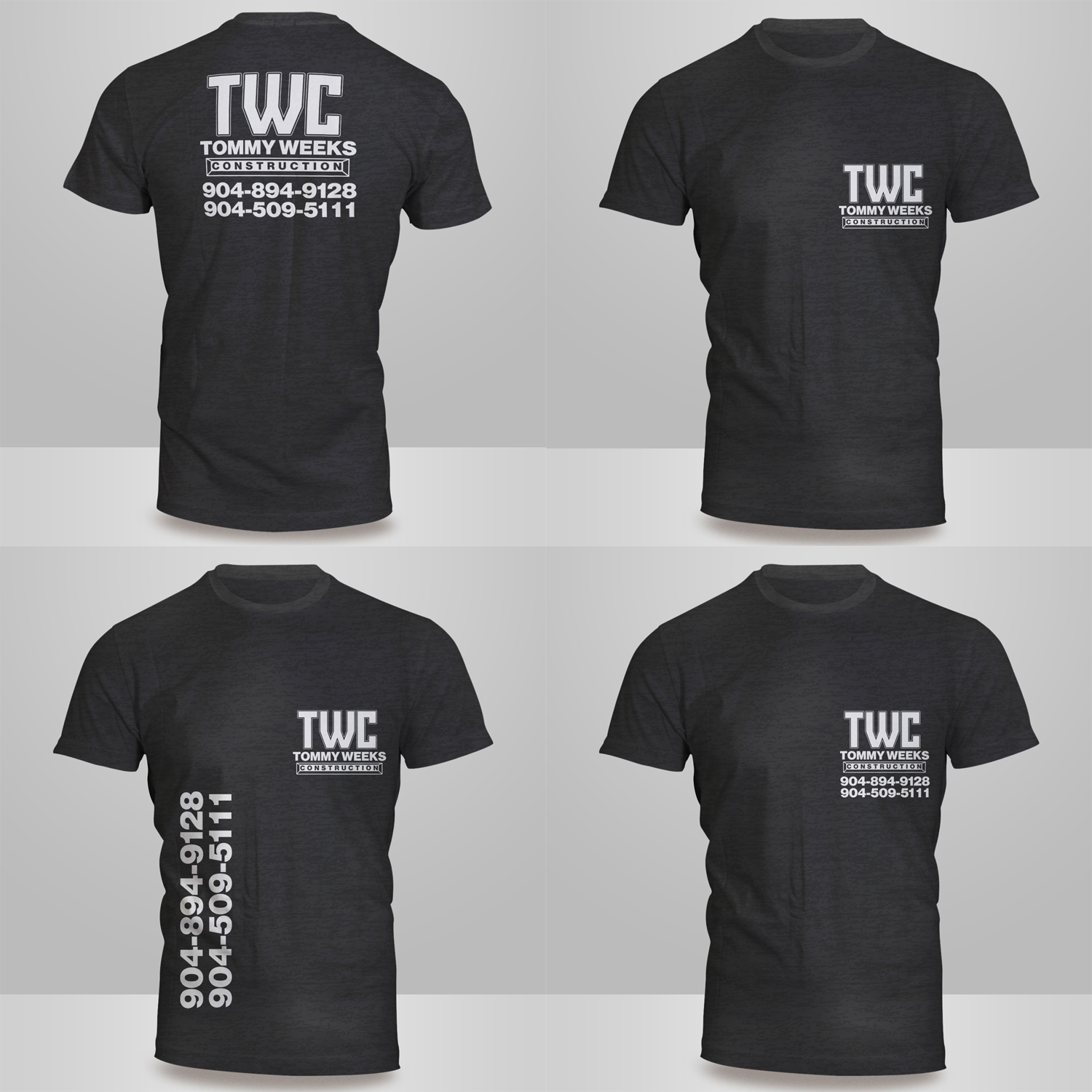 Modern, Masculine, Construction Company T-shirt Design for ... - photo#45