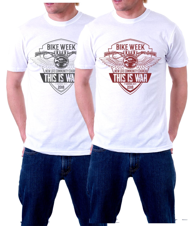 Serious, Masculine, Church T-shirt Design for New Life ...