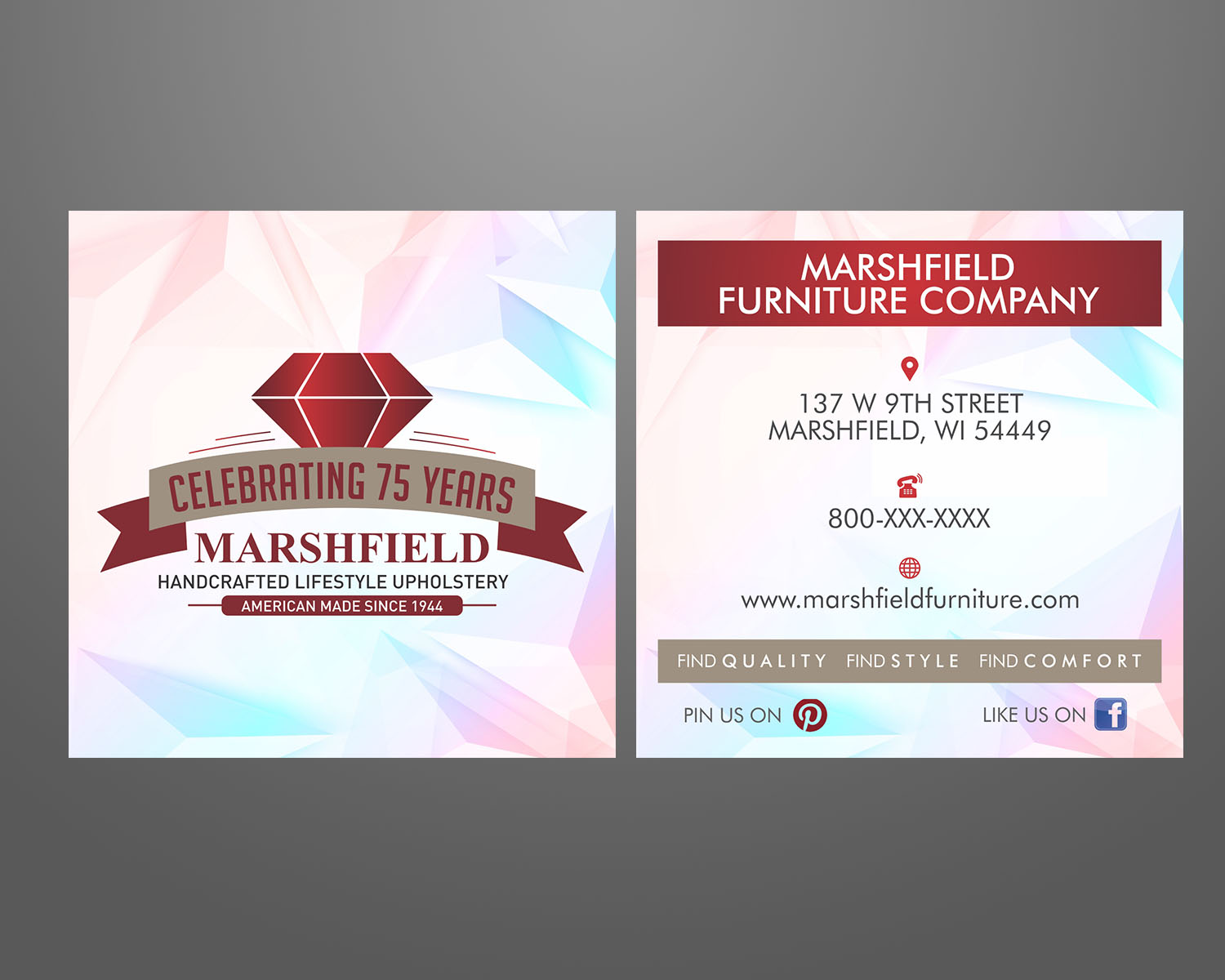 Professional Upmarket Home Furniture Signage Design For Marshfield