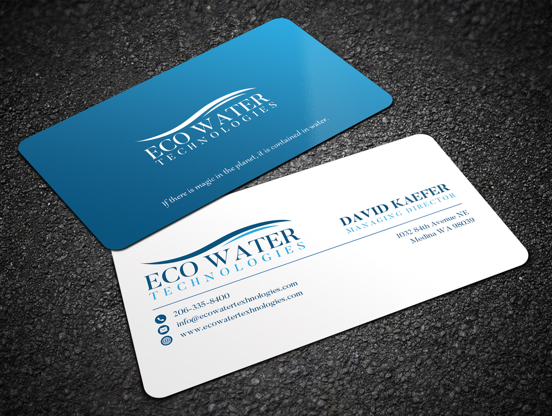 Design De Carte Visite Par Sandaruwan Pour ECO Water Technologies Corp