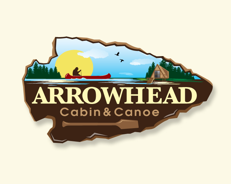 Logo Design For Arrowhead Cabin And Canoe By Dennis