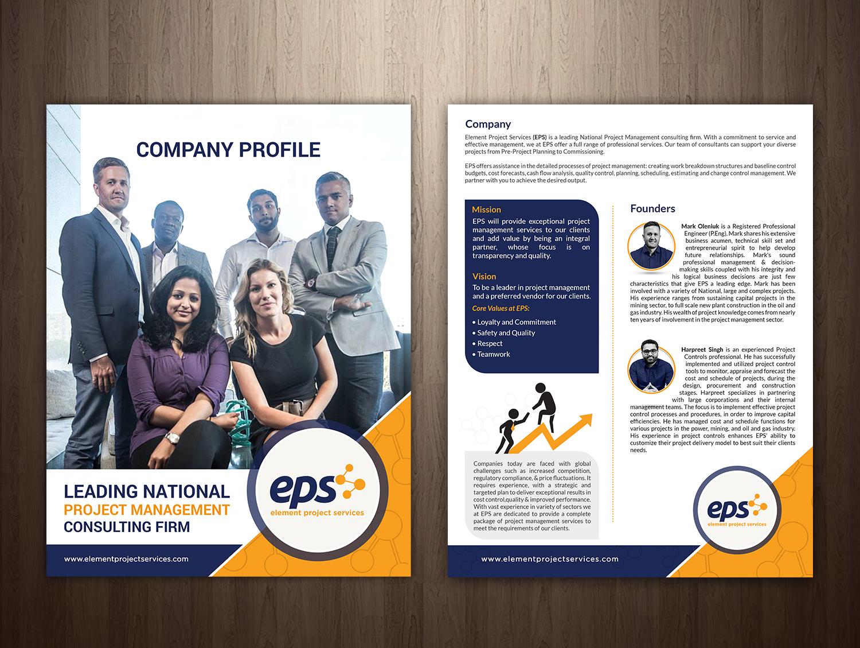 Professional, Bold, Consultant Brochure Design for Element