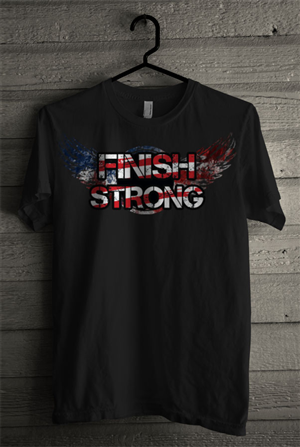 T-shirt Design by SIMRKS - Finish Strong Graphic T-shirt