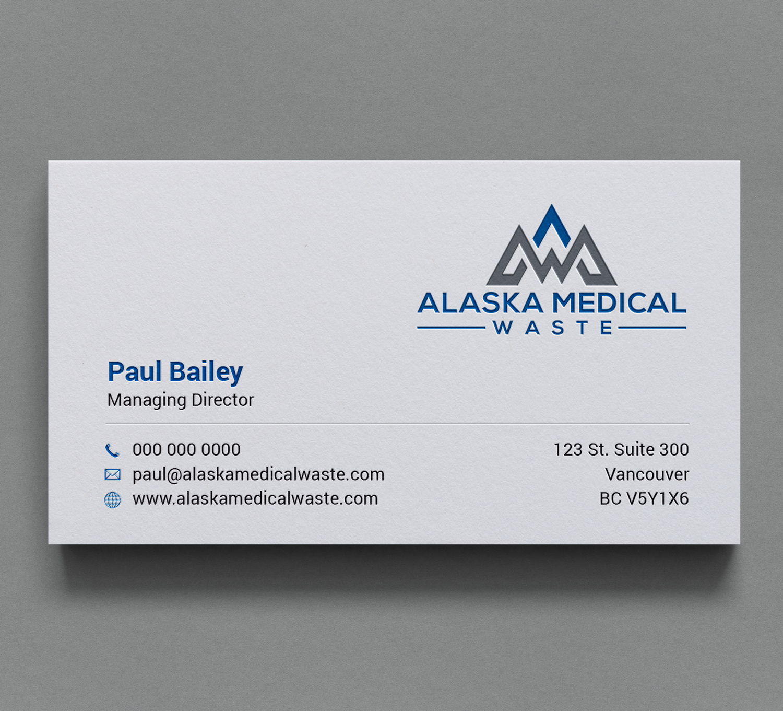 Bold, Modern, Medical Supply Business Card Design for Alaska Medical