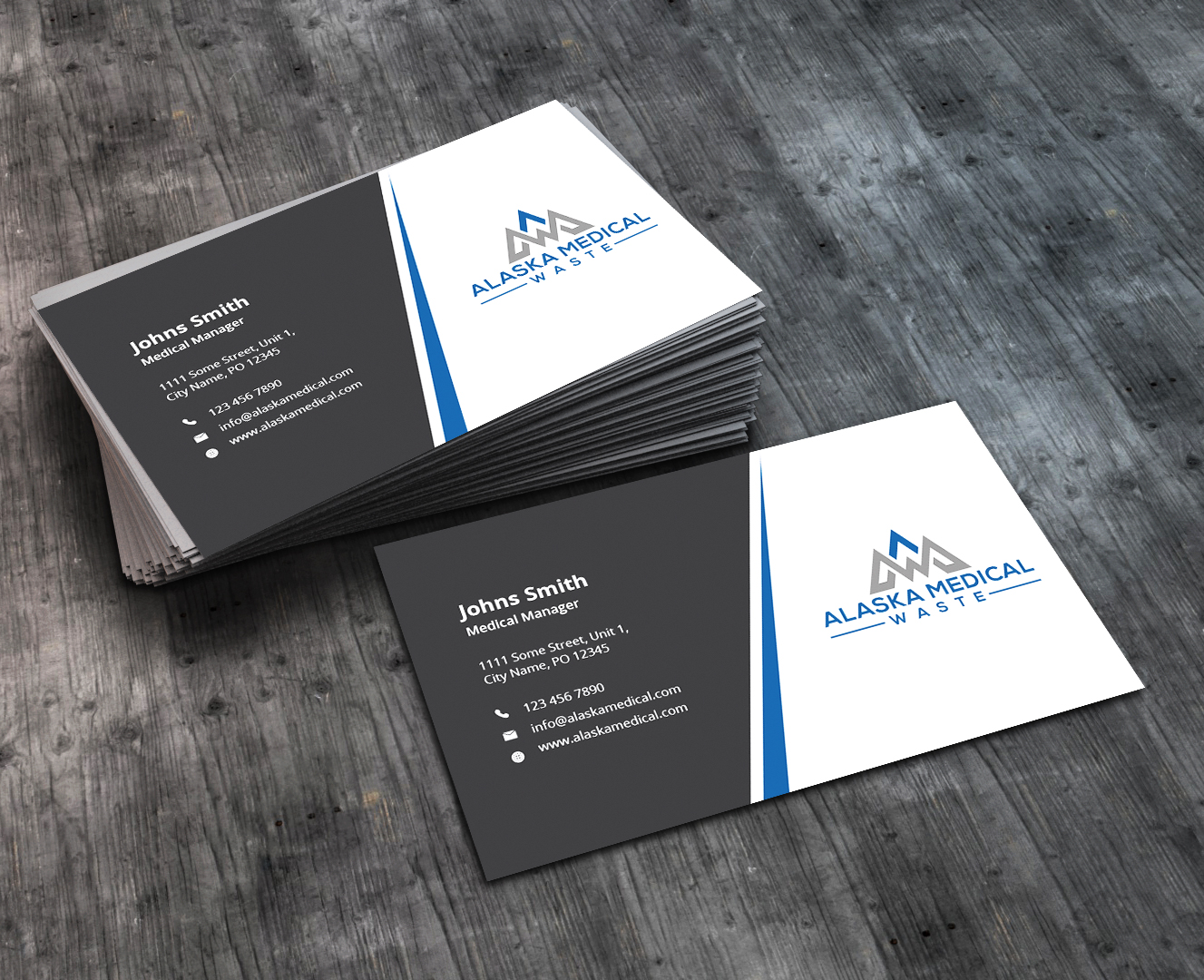 Bold, Modern, Medical Supply Business Card Design for Alaska Medical