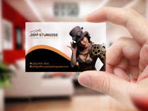 Serious Masculine Professional Photography Business Card