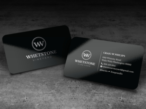 Vineyard business card design galleries for inspiration whetstone vineyard business card and logo core brand image business card design reheart Image collections