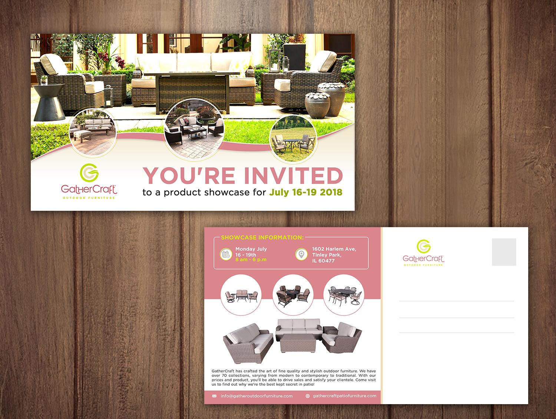 Elegant playful patio furniture postcard design for a company in united states design 18722442