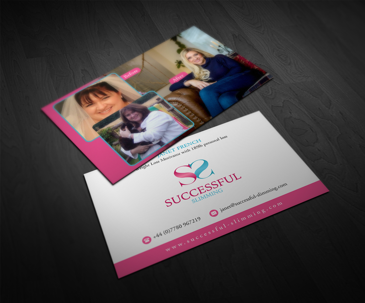 Elegant Playful Business Card Design For Successful Slimming By