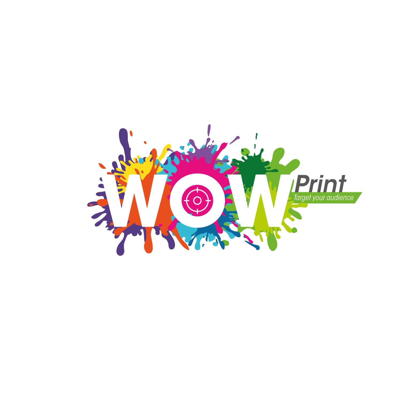 Elegant, Playful, Digital Printing Logo Design for WOW Print