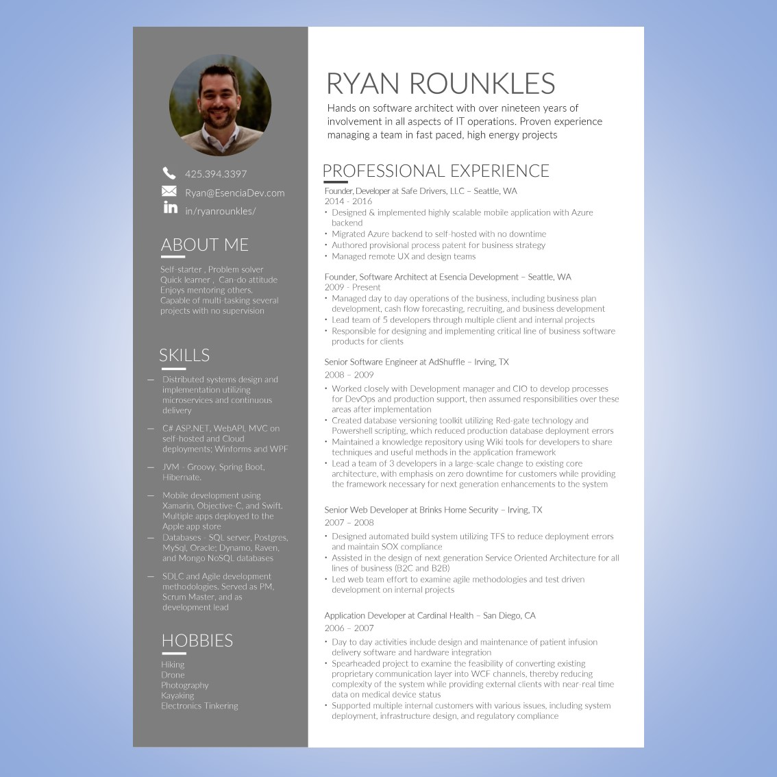 Resume Design for a Company by Mel Power | Design #18751893