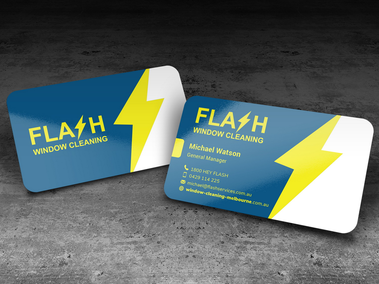 Serious modern window cleaning business card design for a company business card design by cinigela87 for this project design 18755516 reheart Images