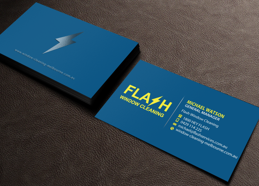 Serious Modern Window Cleaning Business Card Design For A Company