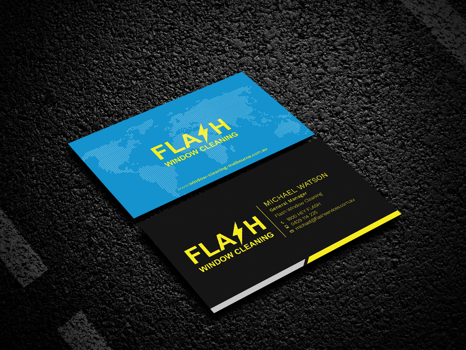 Serious modern window cleaning business card design for a company business card design by fxpro for this project design 18769360 reheart Image collections